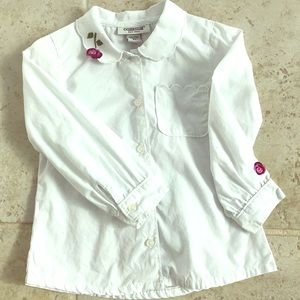 Oshkosh white button up shirt